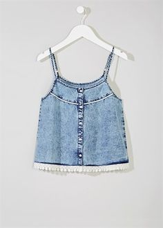 Girls Candy Couture Denim Cami Top (9-16yrs)