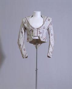 """1790s bodice/jacket (Ärmeljacke """"Die neue Griechin"""" )  Germanisches National Museum number T1377"""