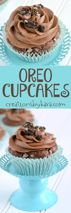 Moist and delicious Chocolate Oreo Cupcakes with a killer Chocolate Frosting…