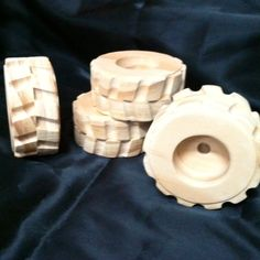 Tractor Tread style wood toy wheels inches by WillsWheels Wooden Toy Wheels, Wooden Truck, Wooden Wheel, Wooden Car, Making Wooden Toys, Wood Toys, Diy Toys, Toys For Boys, Diy And Crafts