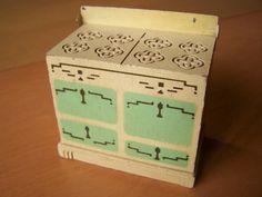 Vintage Dollhouse Furniture - Strombecker 1930s Kitchen Range by RetrowareExchange on Etsy