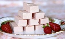 It takes only two ingredients, a quick melt and stir, then 20 minutes in the fridge to create this sweet, more-ish strawberry fudge.