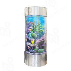 "Amazon.com : Aquarium 360 degree acrylic cylindrical tank  Size: 58"" H x 23.5"" W x 23.5"" D :"
