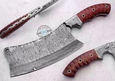 "10.75"" Custom Manufactured Beautiful Damascus Steel cleaver Knife (AA-0257-9) #KnifeArtist"