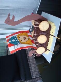 wickie's ship cake