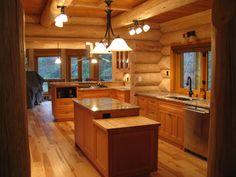 Cabin fever kitchen design. - #Kitchen