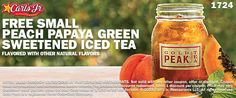Now through 11/30, you can get a Free Small Peach Papaya Green Sweetened Iced Tea at your local Carl's Jr... Read More