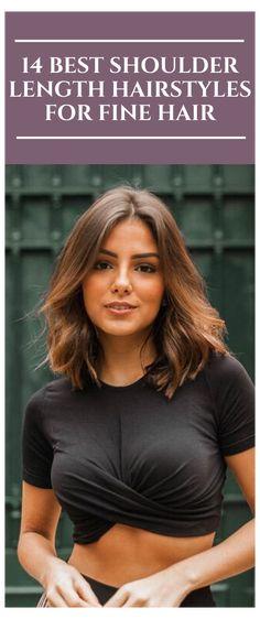 Cute Shoulder Length Haircuts, Shoulder Haircut, Shoulder Length Hair Styles For Women, Shoulder Length Hair Cut, Medium Short Haircuts, Haircuts For Fine Hair, Medium Hairstyles, Daily Hairstyles, Fringe Hairstyles