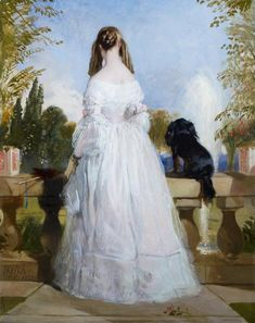 """An Unusual Victorian Portrait…""""Princess Victoire of Saxe-Coburg-Gotha (1822-57) by (later Sir) Edwin Landseer (1839) """" Thanks to historical romance writer Isabella Bradford, I just became aware of this beautiful yet deeply uncanny painting. Owned by..."""