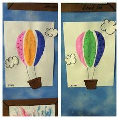 Cute hot air balloons