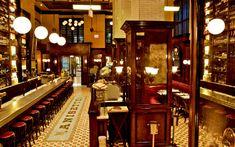 L'AMBIANCE ■ Un nouveau restaurant de Santa Monica, en Californie, qui correspond en tout point à ce qu'on serait en droit d'attendre d'une brasserie parisienne Art Déco... il ne manque que le ciel gris