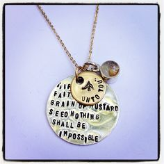 Mustard Seed Quote Pendant by alliem.com for $55.00