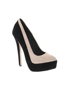 PARADISE Suede Platform Court Shoes