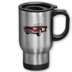 1961 Corvette: Sports Car: 3D Model: Travel Mug from http://www.zazzle.com/travel+mugs