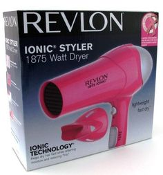 Revlon RV474 1875 Watt Ionic Styler Dryer, Pearlized Pink with Black Spray (Pack of 6) * Find out more about the great product at the image link.