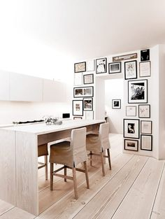galley in the kitchen -   apartment designed byAnouska Hempel via my ideal home
