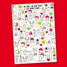 Gratis printbare Kerst zoekplaat van www.highteeth.nl
