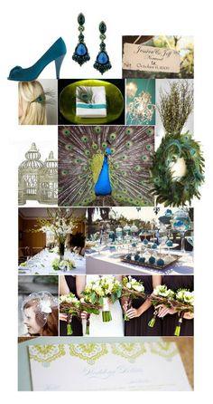 peacock wedding board