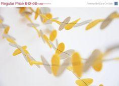 Yellow gray wedding garland