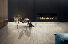 Modern luxurious living room decor with Tipos floor tile. By Ceramica Sant'Agostino.