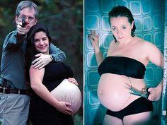 awkward pregnancy photography