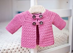 Crochet button sweater for baby