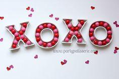 Adorable Hugs & Kisses Ceramic Letter Dish! www.PartyPatisserie.com