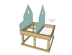 Ana White   Small Chicken Coop with Planter, Clean Out Tray and Nesting Box - DIY Projects