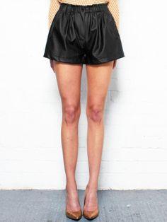 Faux Croc Leather Shorts