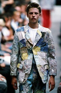 e00ab637 Comme des Garcons Homme Plus SS2000 Cross Stitch, Patchwork, Men's  Clothing, Blazer,