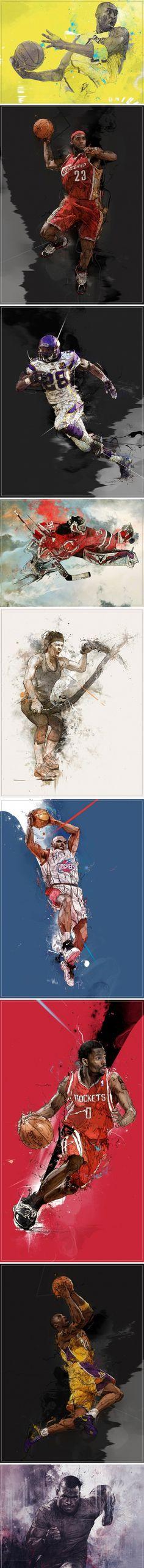 Sport Illustrations 나이키 일러스트 광고