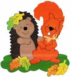 ŐSZI ABLAKKÉPEK SABLONNAL - tanitoikincseim.lapunk.hu Fall Paper Crafts, Autumn Crafts, Crafts For Girls, Diy For Kids, Hedgehog Craft, Autumn Activities For Kids, Handmade Baby Gifts, Felt Patterns, Fall Diy