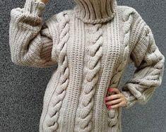 2-3 kg gemacht zu bestellen-Hand gestrickten Pullover | Etsy