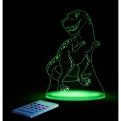 Aloka T Rex Dinosaur SleepyLight Colour Changing LED Night Light with Remote