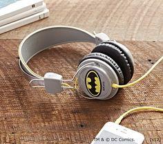 #Batman headphones.