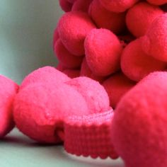 "Items similar to 3 Yards ""Magenta"" JUMBO PomPom Trim, Ball Fringe on Etsy"