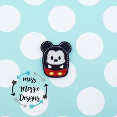 Mouse Bean feltie ITH Embroidery design file