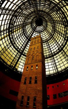 Shot tower in Melbourne Central Arcade, Victoria Australia #travel #awesome #australia Visit www.hot-lyts.com to see more background images