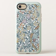 Golden Lily Vintage Floral Pattern William Morris OtterBox Symmetry iPhone 8/7 Case - pattern sample design template diy cyo customize
