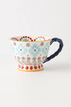 With A Twist Teacup turquoise by: Anthropologie
