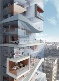 Diller Scofidio + Renfro Unveils New Columbia University Medical Building - CUMC Rendering DD_SW_ELEVATED_CAFE