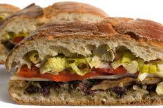 Vegetarian Muffuletta (vegan if you hold the cheese - or substitute vegan cheese)