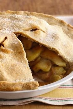 Classic homemade apple pie with a scrumptious filling and flaky pastry crust.
