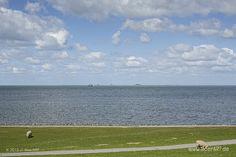 Impressionen von der eingedeichten Halbinsel Nordstrand in Nordfriesland // Foto: MeerART North Sea, Golf Courses, Photos, Island, Heart, Hamburg, Vacations
