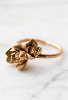 Succulent Ring | Etsy