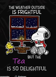 Snoopy is holding a wine glass of red wine - Tee Snoopy Love, Charlie Brown And Snoopy, Snoopy And Woodstock, Chai, Snoopy Quotes, Tea And Books, Tea Glasses, Christmas Tea, Christmas Quotes