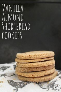 Super simple, easy Vanilla Almond Shortbread Cookies! These babies are so…