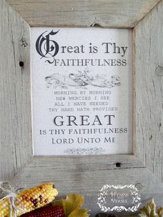 Great is Thy Faithfulness   Hymns and Verses