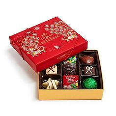 Imported from America and not available in the UK!  Godiva Luxury Christmas Truffles - box of 9.