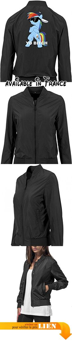 B075D8LB4P : Yo Bitch Pony Bomber Vest Girls Black Certified Freak-XL.